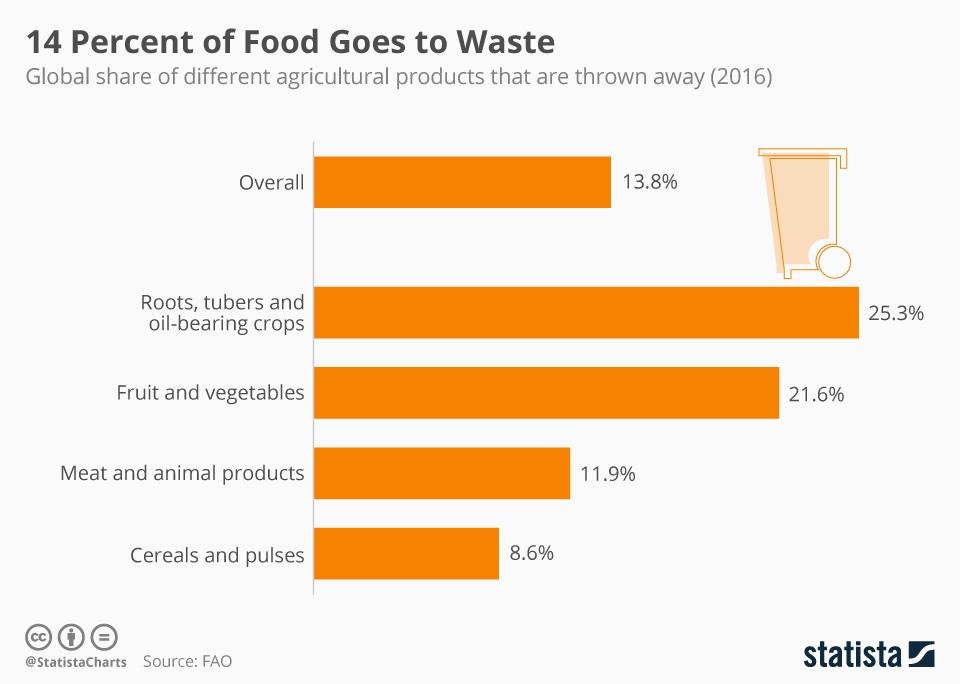 FAO Food Waste 2016 | Scarti alimentari e impatto ambientale: cosa fare?